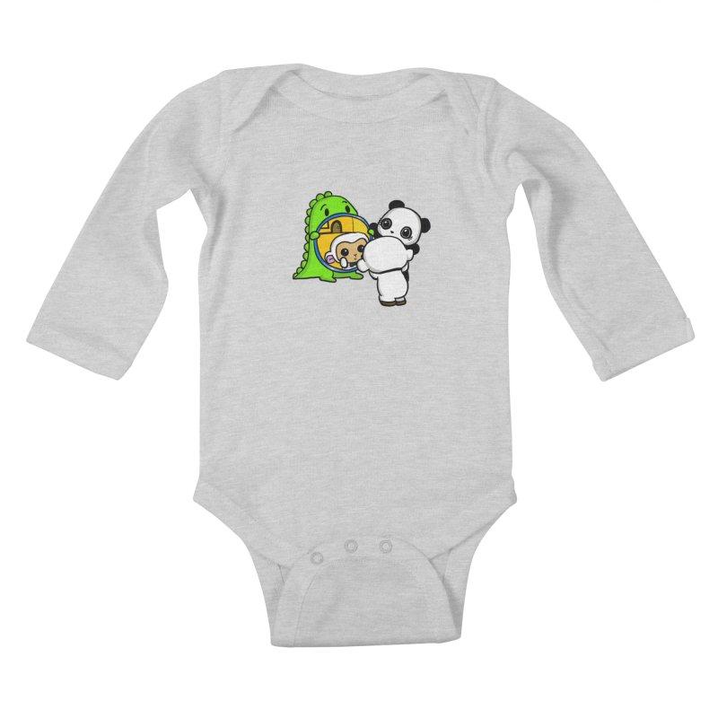 Mirror Mirror Kids Baby Longsleeve Bodysuit by Dino & Panda Inc Artist Shop