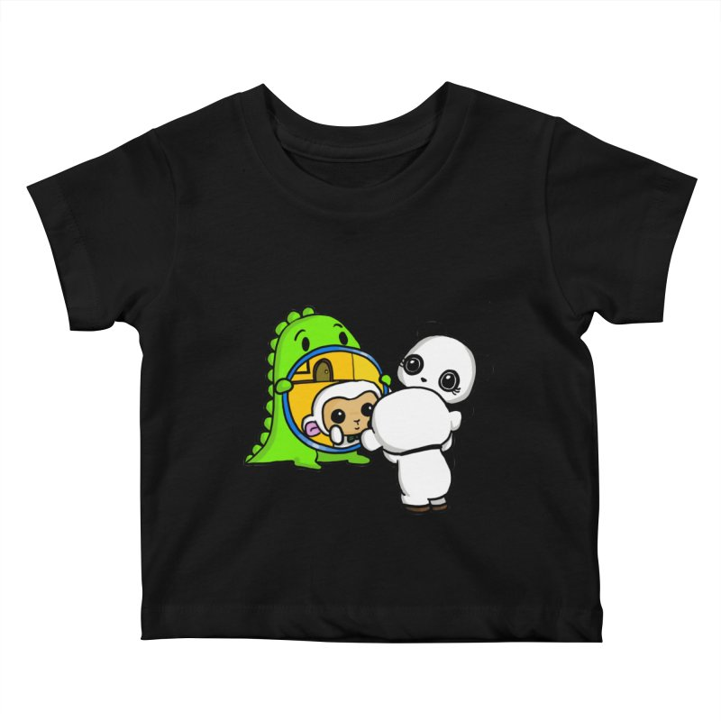 Mirror Mirror Kids Baby T-Shirt by Dino & Panda Inc Artist Shop