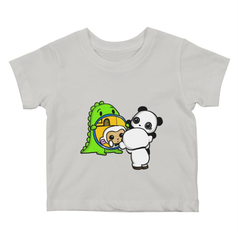 Mirror Mirror Kids Baby T-Shirt by Dino & Panda Inc Artist Shop