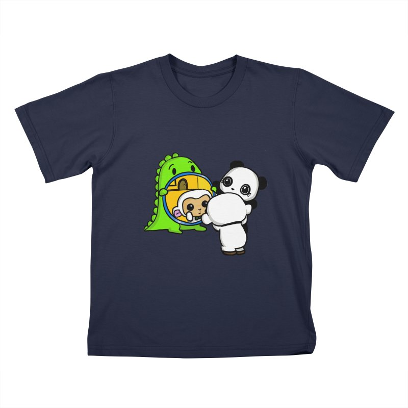 Mirror Mirror Kids T-Shirt by Dino & Panda Inc Artist Shop