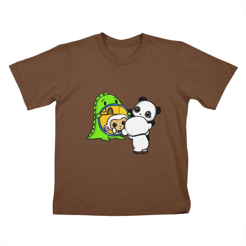 Mirror Mirror Kids T-Shirt by Dino & Panda Inc Artist Shop