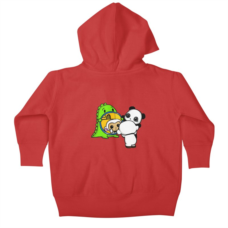 Mirror Mirror Kids Baby Zip-Up Hoody by Dino & Panda Inc Artist Shop