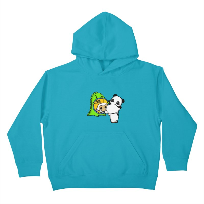Mirror Mirror Kids Pullover Hoody by Dino & Panda Inc Artist Shop