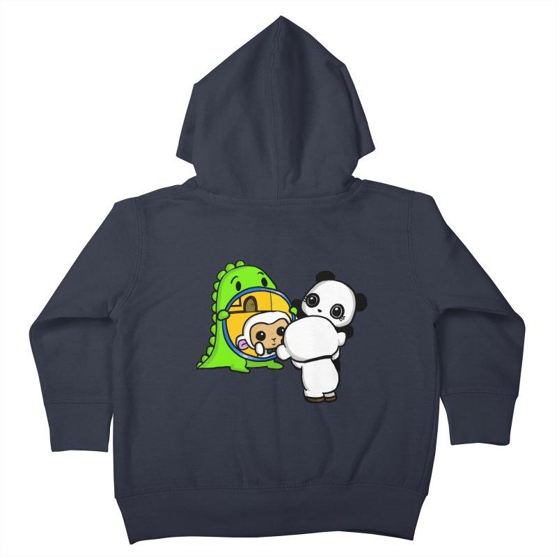 Mirror Mirror Kids Toddler Zip-Up Hoody by Dino & Panda Inc Artist Shop
