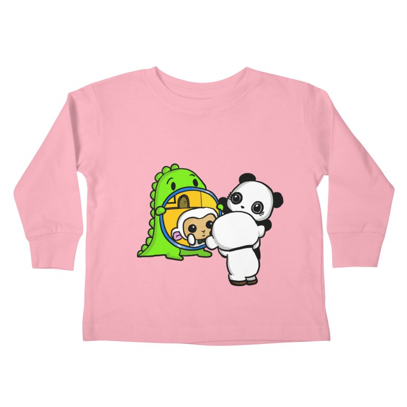 Mirror Mirror Kids Toddler Longsleeve T-Shirt by Dino & Panda Inc Artist Shop