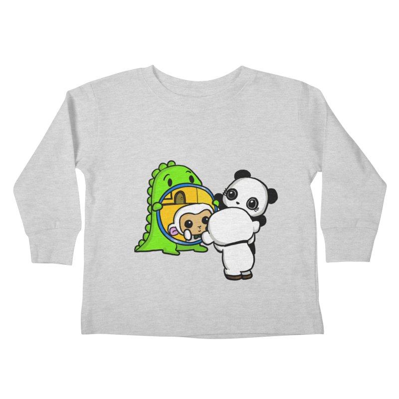 Mirror Mirror Kids Toddler Longsleeve T-Shirt by Dino & Panda Inc Artist Shop