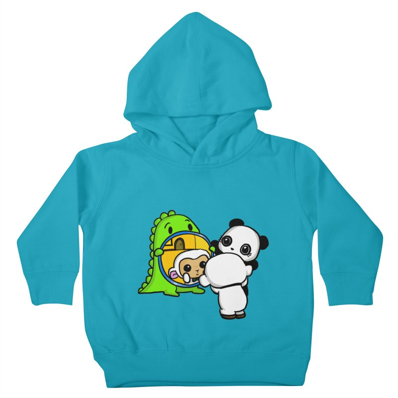 Mirror Mirror Kids Toddler Pullover Hoody by Dino & Panda Inc Artist Shop