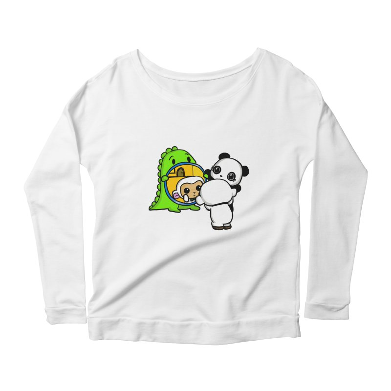 Mirror Mirror Women's Longsleeve Scoopneck  by Dino & Panda Inc Artist Shop