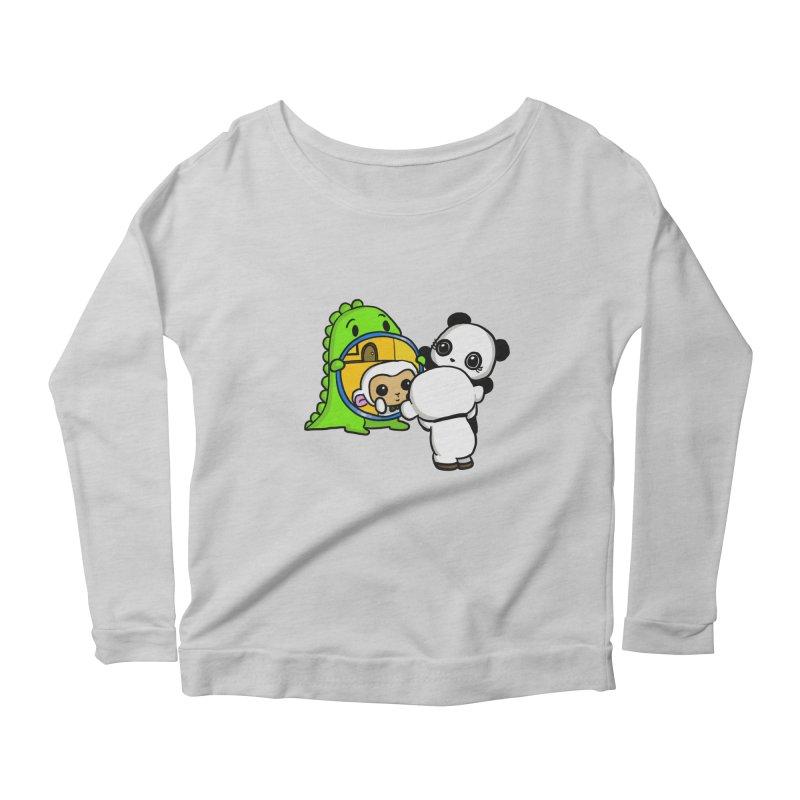 Mirror Mirror Women's Scoop Neck Longsleeve T-Shirt by Dino & Panda Inc Artist Shop