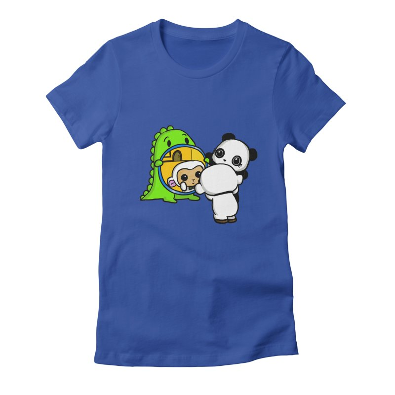 Mirror Mirror Women's Fitted T-Shirt by Dino & Panda Inc Artist Shop