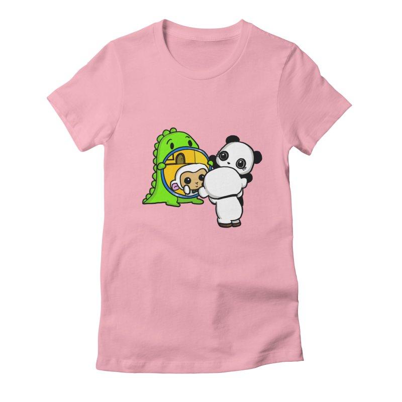 Mirror Mirror Women's Fitted T-Shirt by Dino & Panda Inc Artist Shop