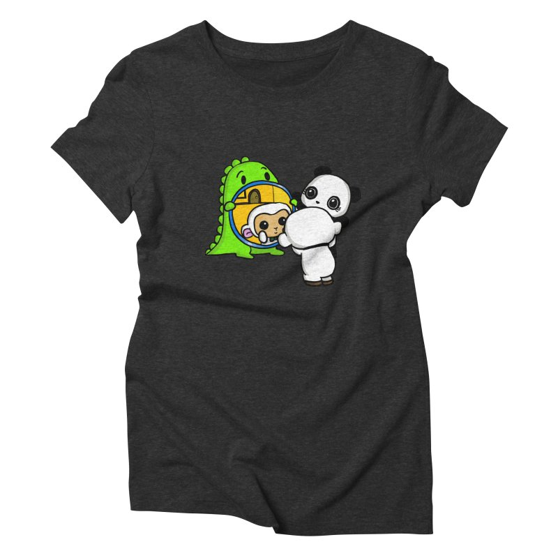 Mirror Mirror Women's Triblend T-Shirt by Dino & Panda Inc Artist Shop
