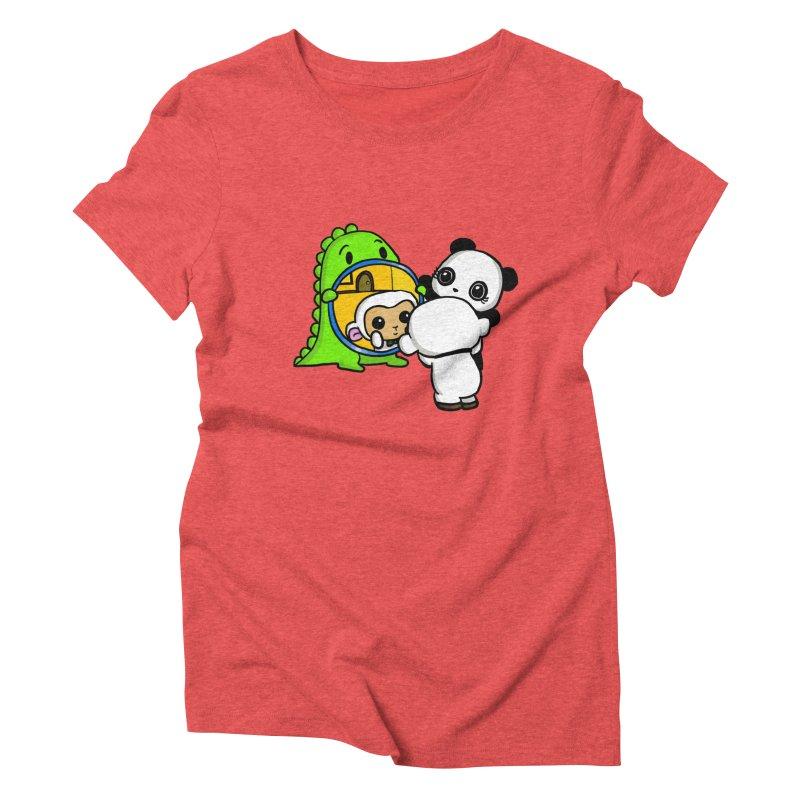 Mirror Mirror Women's Triblend T-Shirt by Dino & Panda Inc Artist Shop