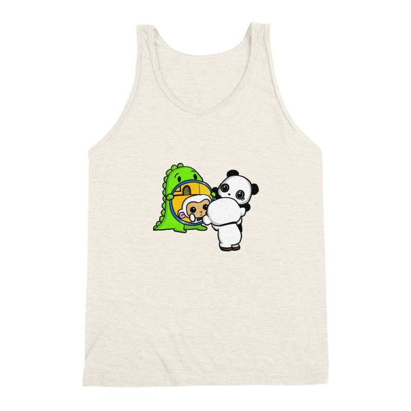 Mirror Mirror Men's Triblend Tank by Dino & Panda Inc Artist Shop