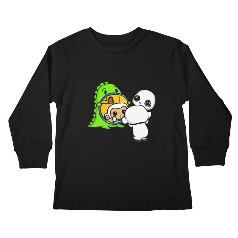 Mirror Mirror Kids Longsleeve T-Shirt by Dino & Panda Inc Artist Shop