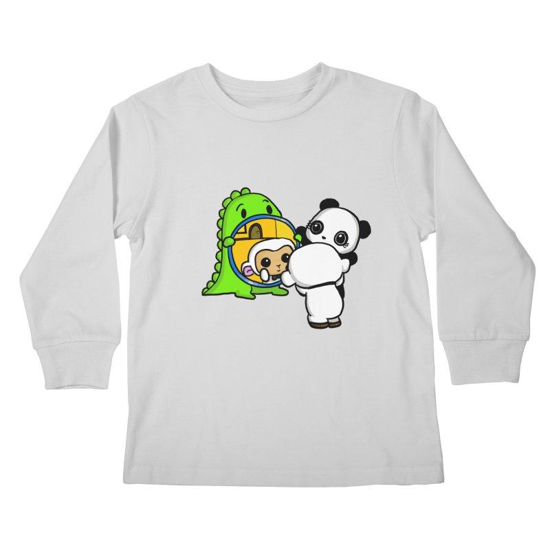 Mirror Mirror Kids Longsleeve T-Shirt by Dino & Panda Inc Artist Shop