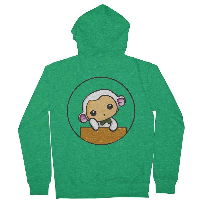 Lambie Thinking Men's Zip-Up Hoody by Dino & Panda Inc Artist Shop