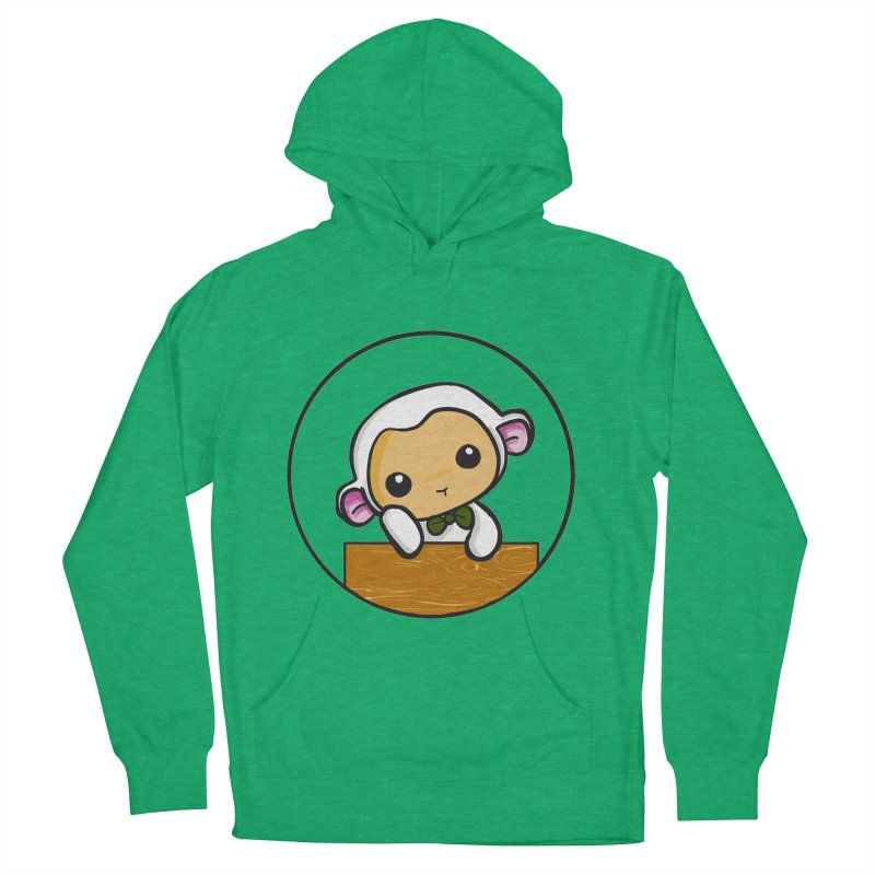 Lambie Thinking Men's French Terry Pullover Hoody by Dino & Panda Inc Artist Shop