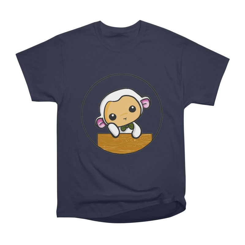 Lambie Thinking Men's Heavyweight T-Shirt by Dino & Panda Inc Artist Shop