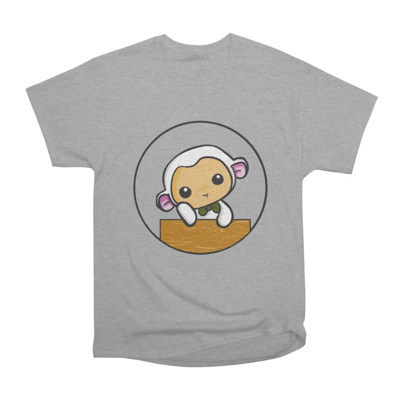 Lambie Thinking Men's Heavyweight T-Shirt by Dino & Panda Inc Artist Shop