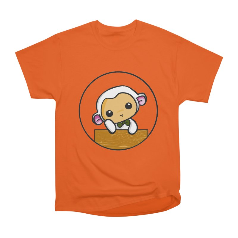 Lambie Thinking Women's Heavyweight Unisex T-Shirt by Dino & Panda Inc Artist Shop