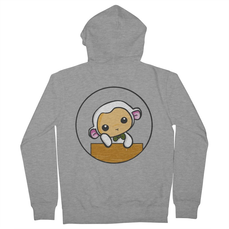 Lambie Thinking Women's Zip-Up Hoody by Dino & Panda Inc Artist Shop
