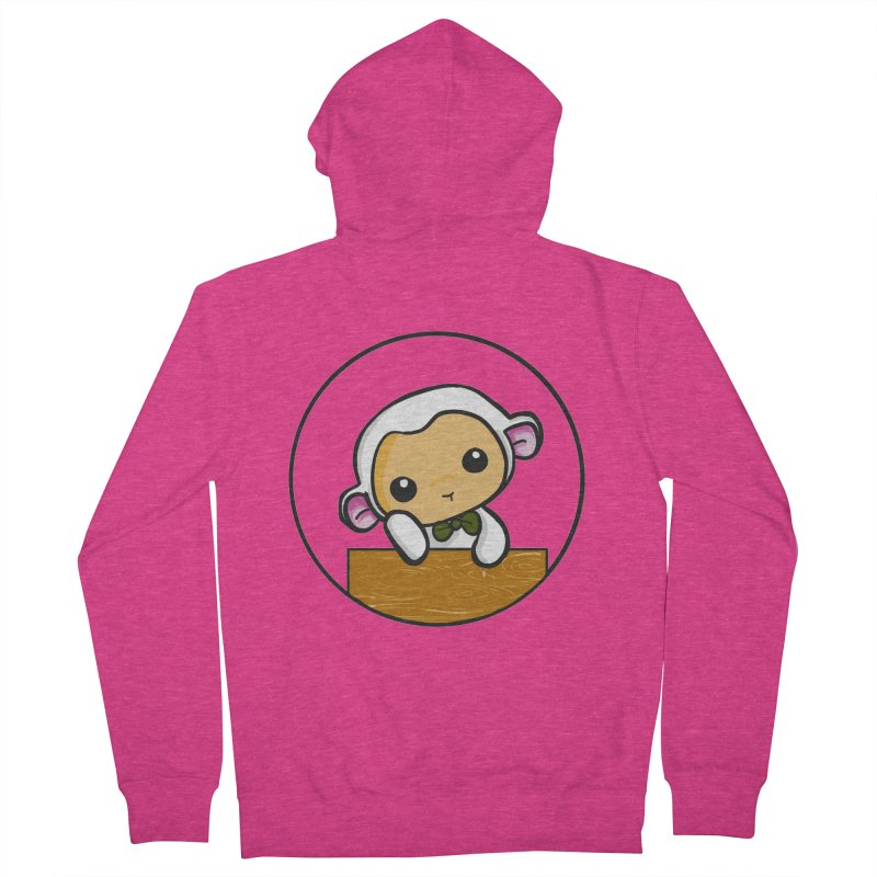 Lambie Thinking Women's Zip-Up Hoody by Dino & Panda Inc Artist Shop