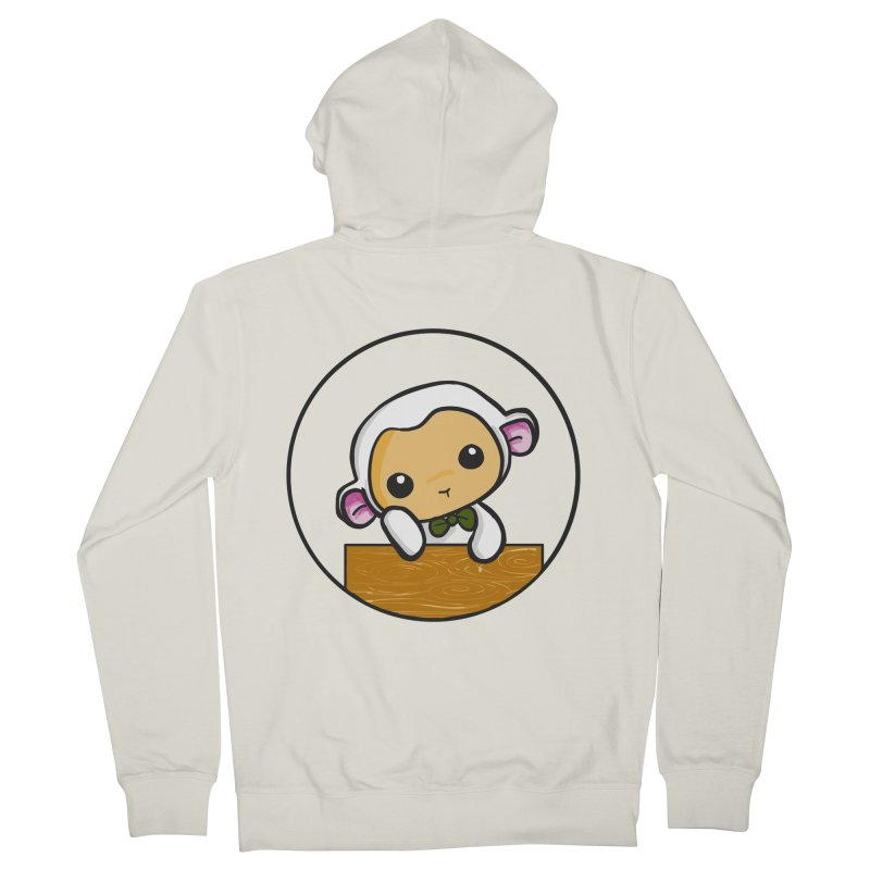Lambie Thinking Women's French Terry Zip-Up Hoody by Dino & Panda Inc Artist Shop