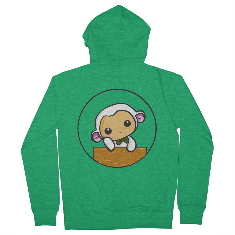 Lambie Thinking Men's Zip-Up Hoody by Dino & Panda Inc Artist Shop