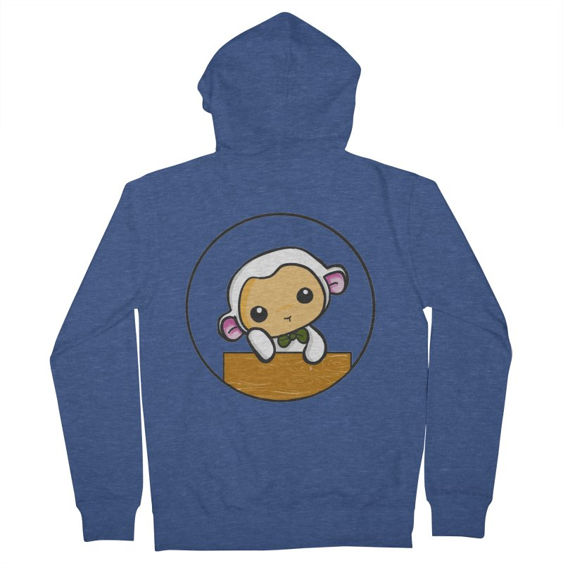 Lambie Thinking Men's French Terry Zip-Up Hoody by Dino & Panda Inc Artist Shop