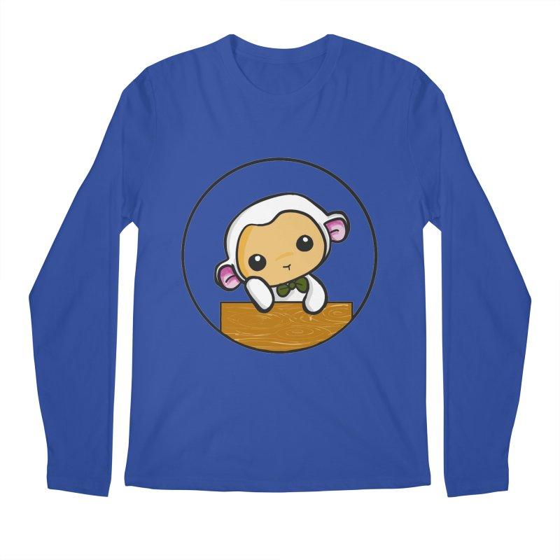 Lambie Thinking Men's Longsleeve T-Shirt by Dino & Panda Inc Artist Shop