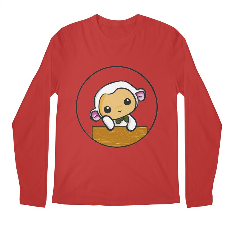 Lambie Thinking Men's Regular Longsleeve T-Shirt by Dino & Panda Inc Artist Shop