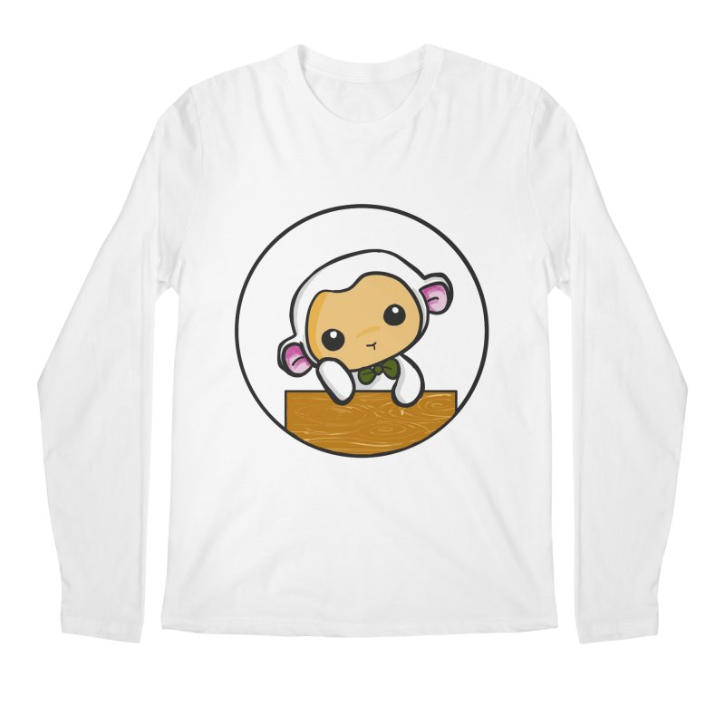 Lambie Thinking Men's Regular Longsleeve T-Shirt by Dino & Panda Inc Artist Shop
