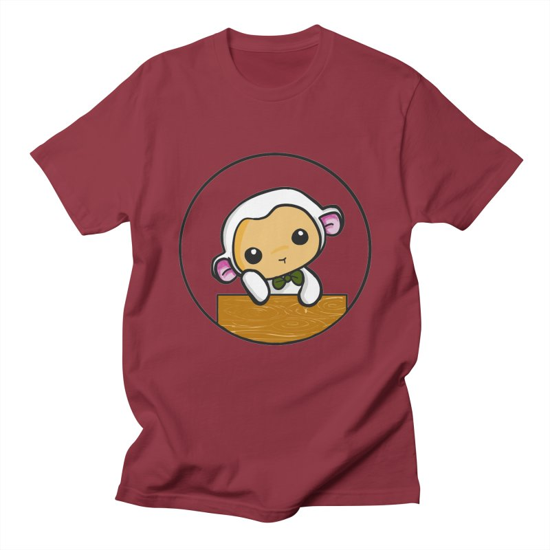 Lambie Thinking Men's Regular T-Shirt by Dino & Panda Inc Artist Shop