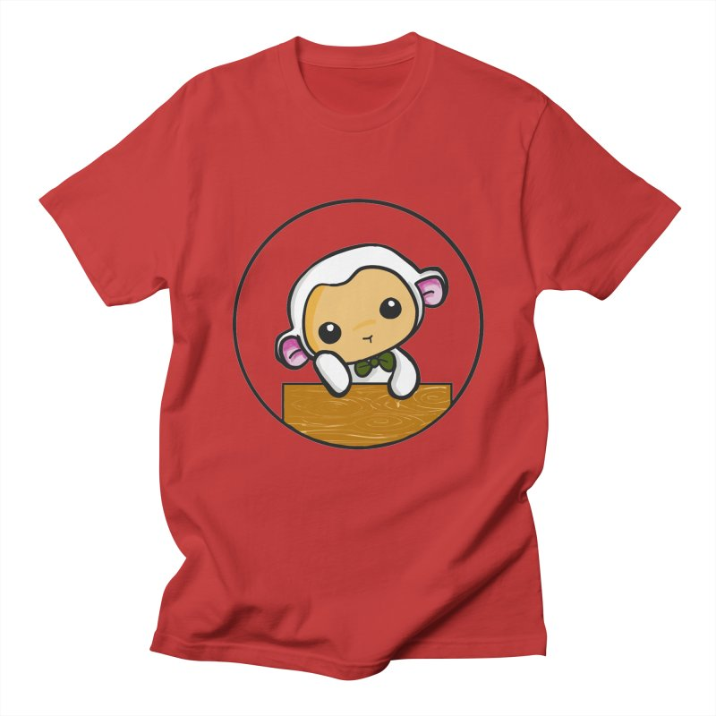 Lambie Thinking Women's Regular Unisex T-Shirt by Dino & Panda Inc Artist Shop