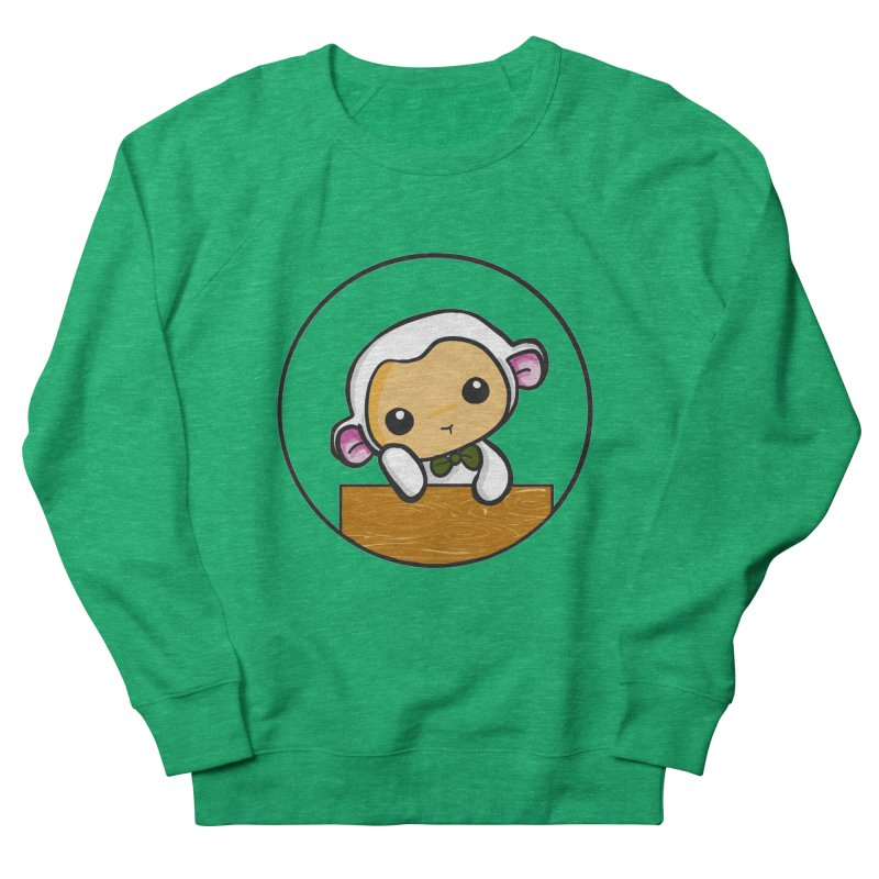 Lambie Thinking Women's French Terry Sweatshirt by Dino & Panda Inc Artist Shop