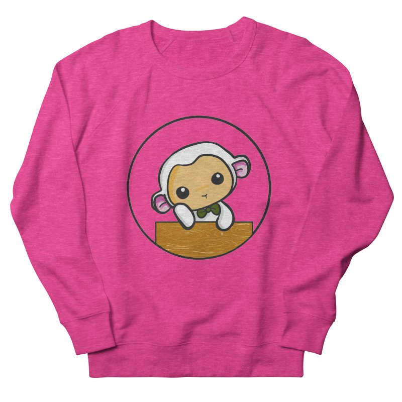 Lambie Thinking Women's French Terry Sweatshirt by Dino & Panda Inc Artist Shop