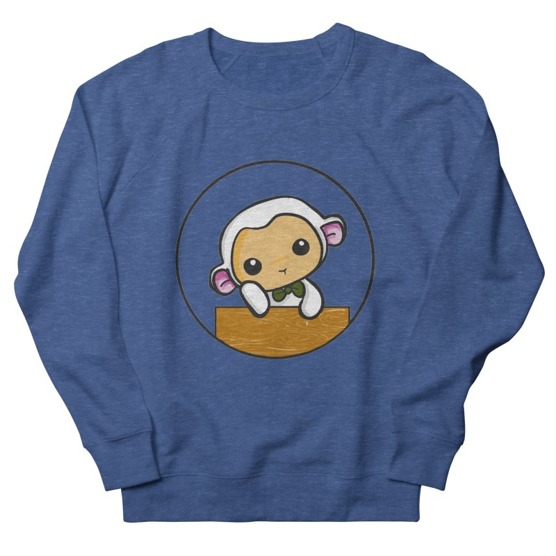 Lambie Thinking Men's French Terry Sweatshirt by Dino & Panda Inc Artist Shop