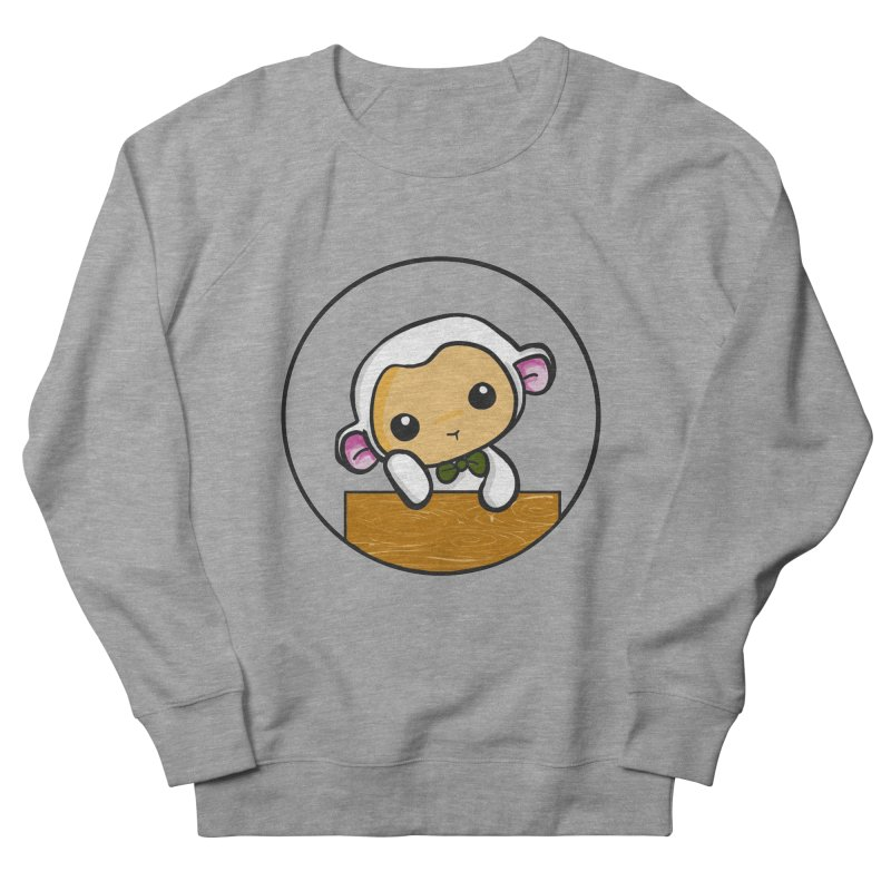 Lambie Thinking Men's Sweatshirt by Dino & Panda Inc Artist Shop