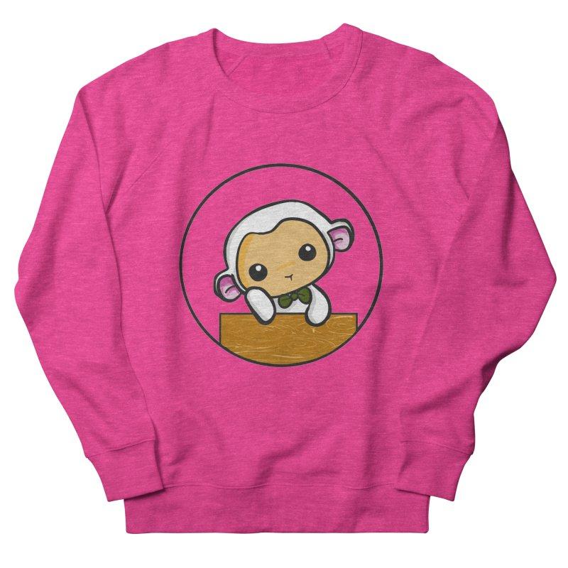Lambie Thinking Men's French Terry Sweatshirt by Dino & Panda Inc Artist Shop