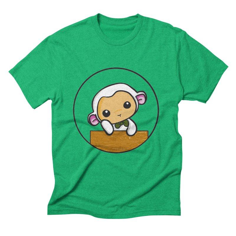 Lambie Thinking Men's Triblend T-Shirt by Dino & Panda Inc Artist Shop