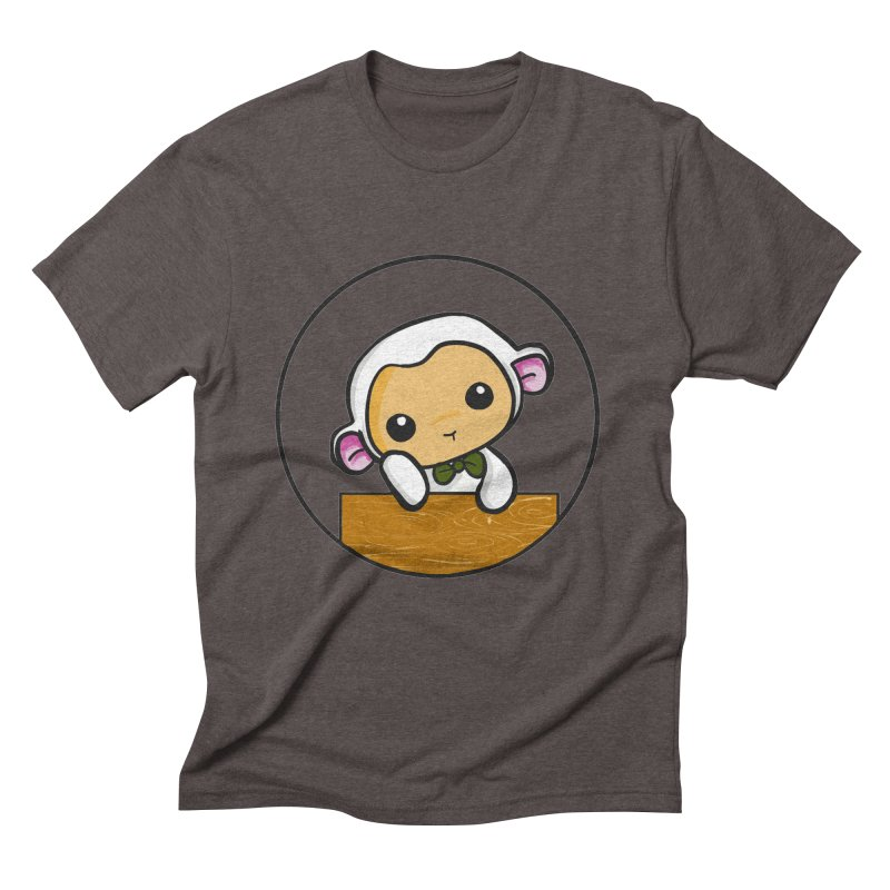 Lambie Thinking Men's Triblend T-Shirt by Dino & Panda Inc Artist Shop