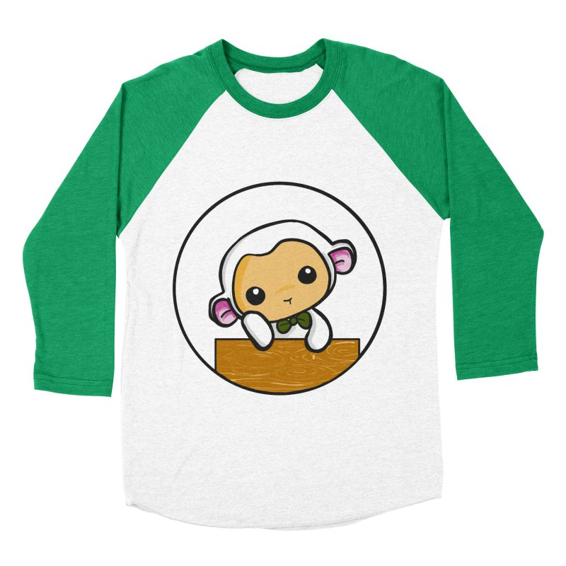Lambie Thinking Women's Baseball Triblend Longsleeve T-Shirt by Dino & Panda Inc Artist Shop