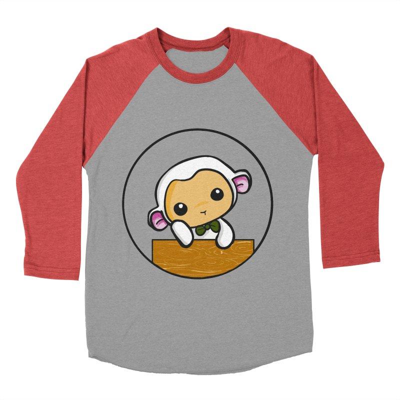 Lambie Thinking Women's Baseball Triblend Longsleeve T-Shirt by Dino & Panda Inc Artist Shop
