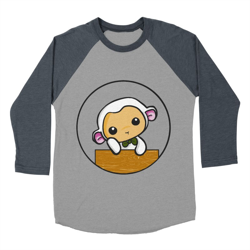 Lambie Thinking Men's Baseball Triblend Longsleeve T-Shirt by Dino & Panda Inc Artist Shop