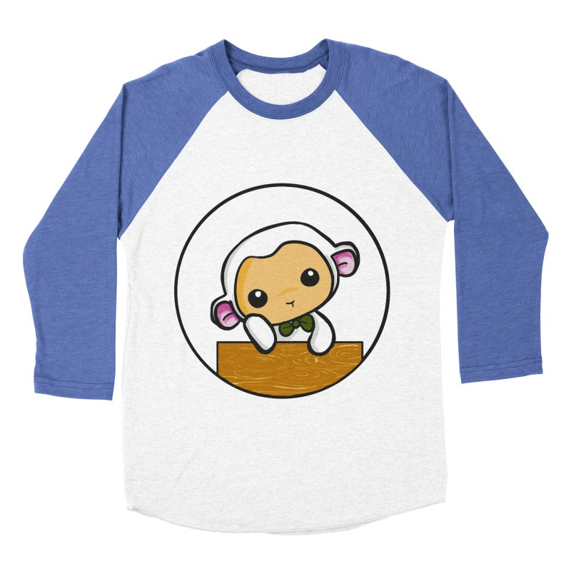 Lambie Thinking Men's Baseball Triblend T-Shirt by Dino & Panda Inc Artist Shop