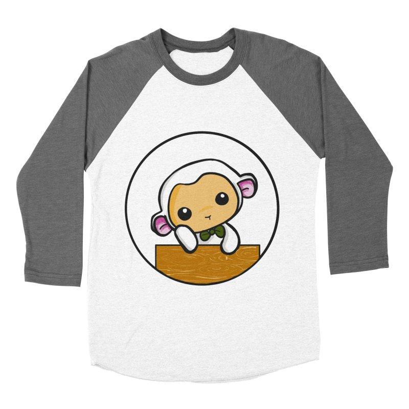 Lambie Thinking Men's Baseball Triblend Longsleeve T-Shirt by Dino & Panda Inc Artist Shop