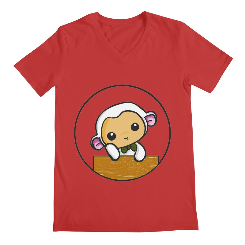 Lambie Thinking Men's V-Neck by Dino & Panda Inc Artist Shop