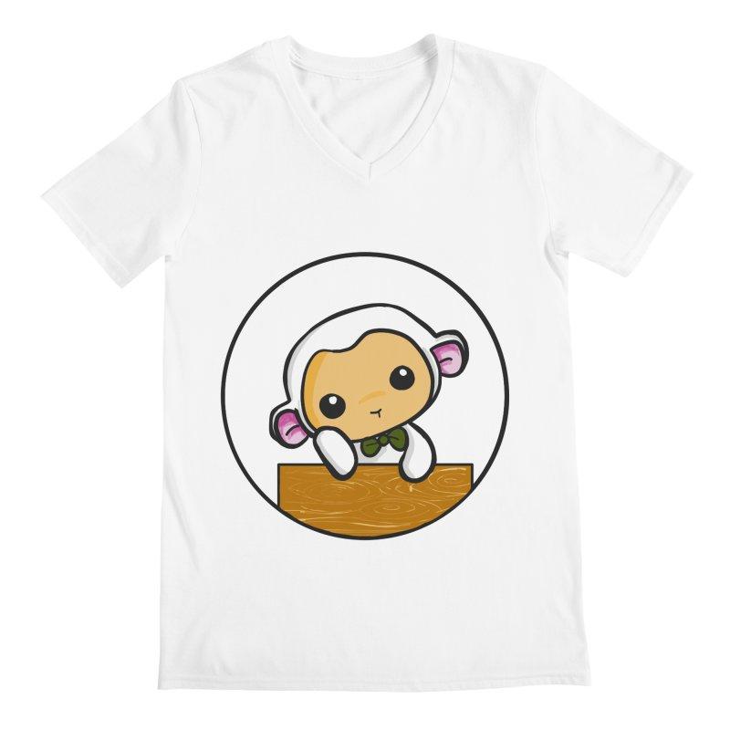 Lambie Thinking Men's V-Neck by Dino & Panda Inc Artist Shop