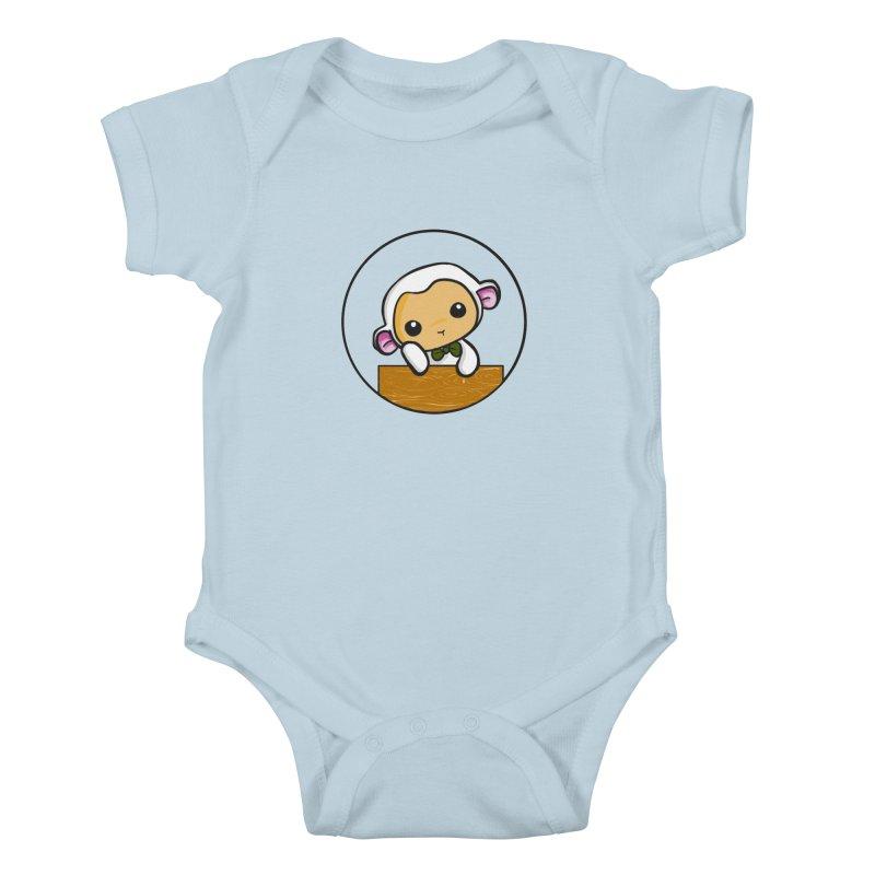 Lambie Thinking Kids Baby Bodysuit by Dino & Panda Inc Artist Shop